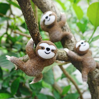 Needle Felt Sloth Phone Case Wool Felt Sloth Phone Cover Phone Shell