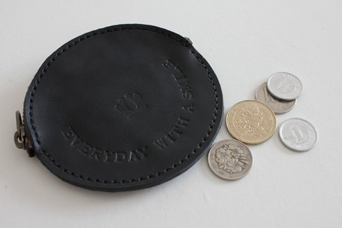 Coin case / SMILE Every day with a smile is black