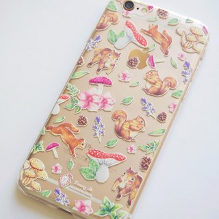 Tammy St. hand-painted style floral forest mushrooms Squirrel pineal Phone Case