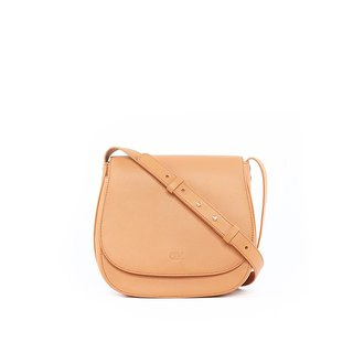 Multi-Gussets Saddle Bag, Camel
