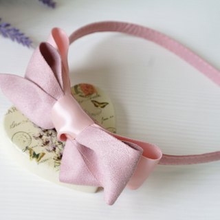 Sweet Pink Color Ribbon Hair Band HB001