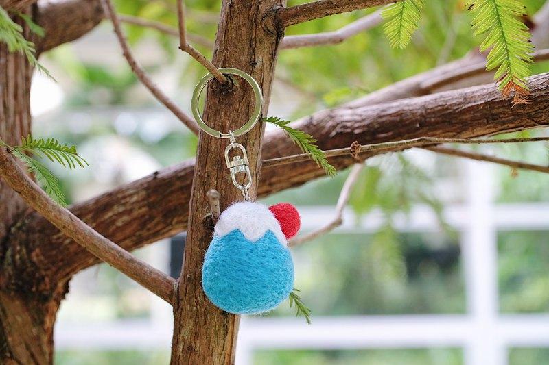 富士山羊毛氈鑰匙圈