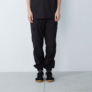 What pants - multi-pocket casual work pants - black