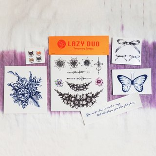 Goody Bag - LAZY DUO Temporary Tattoo Stickers · Set G ·