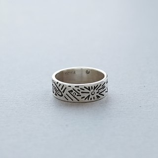 Doodle Silver Ring 003 - size 7JP