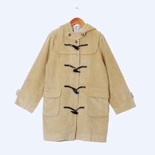 {::: Giraffe giraffe people :::} _ angora cream coffee vintage horn button coat (flaws Special)