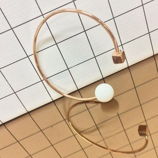 18K Rose Gold Marshmallow Cube Bangle