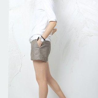 Gao fruit / GAOGUO original designer brand new women's natural linen shorts shorts wild Slim