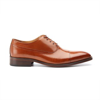 Kings Collection หนังแท้จาก Marbella Brogue Lace Up Shoes KV80083 สีน้ำตาล