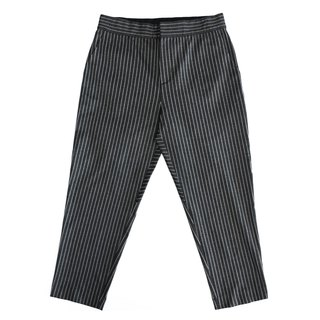 Four-sided straight stripes nine-point trousers