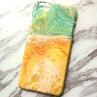 OOAK hand-paint phone case, only one available, Handmade marble IPhone case