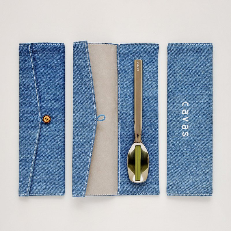 [New Products] Washed Dening Cutlery Bag | Light Blue