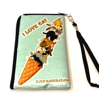 Cat waterproof cloth bag phone bag (ice cream / candy)