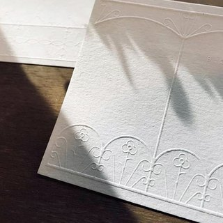- Window lace cards - | A piece of two | white series | Simple | Letterpress | Universal Card
