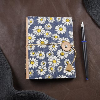 Cloth and leather intertwined interlocking handmade notebook