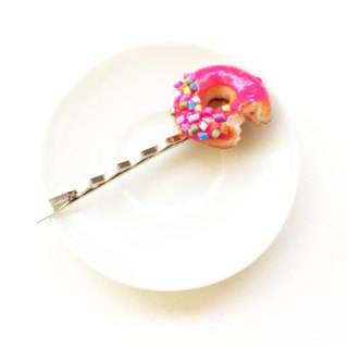New Donut hairclip pink