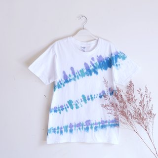 Tie dye/T-shirt/Garment/Custom size/Men/Women :Sea side: