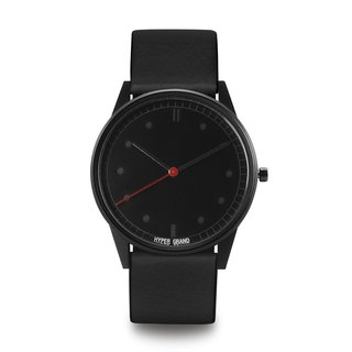 HYPERGRAND - 01 Basic Series - Black Dial Black Leather Watch