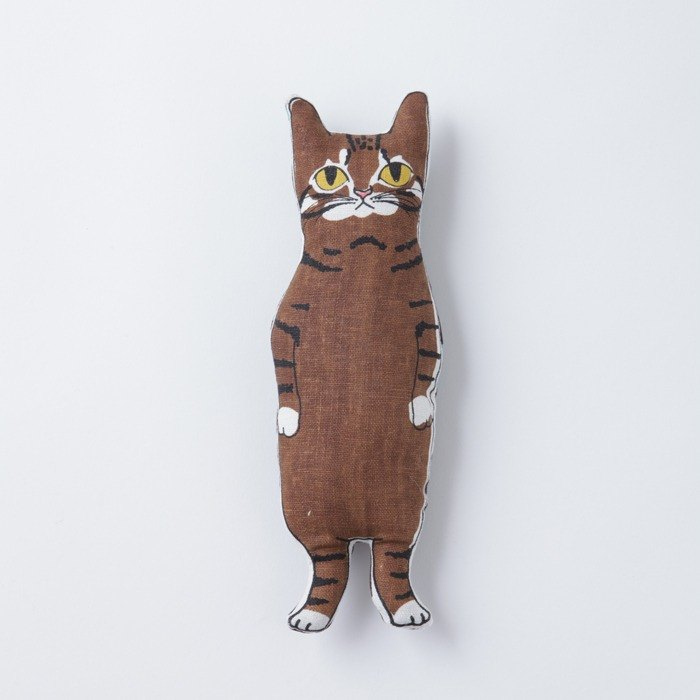 Brown Tabby Cat Stuffed Animal Pocket Size Designer Nuigroom