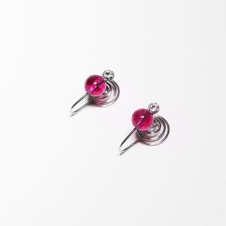 Kamcheng Sweet Series | Tourmaline-Pink Stainless Steel Earrings