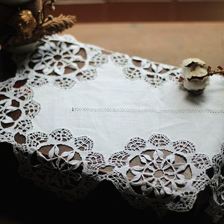 [Good fetish] Germany vintage antique hand-embroidered lace piece -002