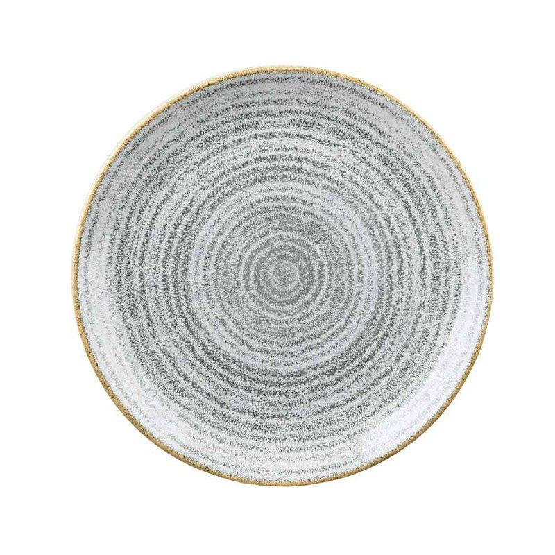 Studio Print年輪系列-圓形22cm餐盤-灰色