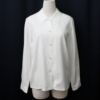[RE0215T1751] Nippon Department of Forestry simple cake vintage lace collar white shirt