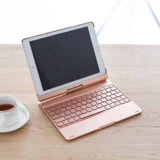 GREENON iPad AIR Bluetooth Keyboard Spiral Case