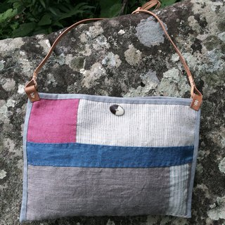 Hand-woven hemp shoulder bag E