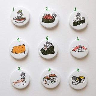 Sushi 44mm Badge / 3 in