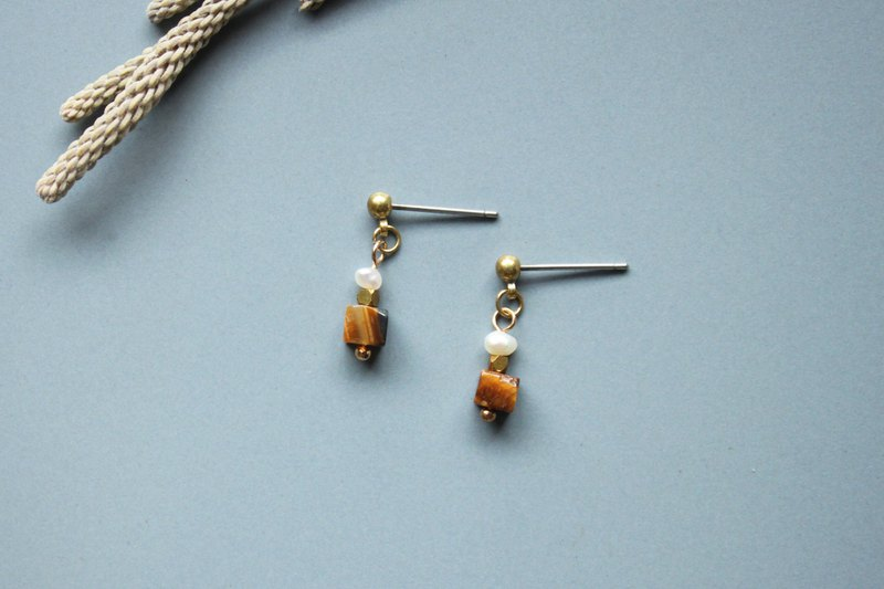 Square - earring  clip-on earring
