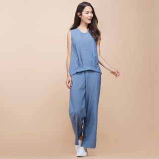 [MACACA] Dream Fearless 2-way Jumpsuit BQE8063 Blue Strip