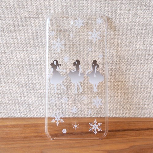 Clear android phone case - Dance with Snow -