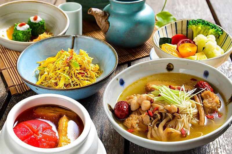 竹里館 x Pinkoi | 麻油猴菇麵線 單人定食 | 蔬食體驗