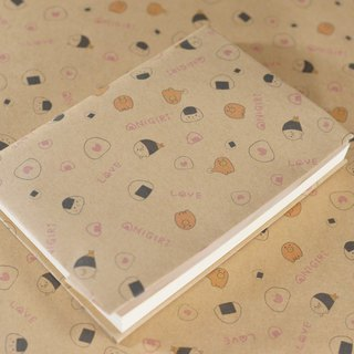 【Valentine] wrapping paper 3 piece set