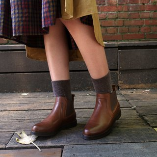 New product special [Northern Country Forest] plain noodle Erxi short boots _ brown