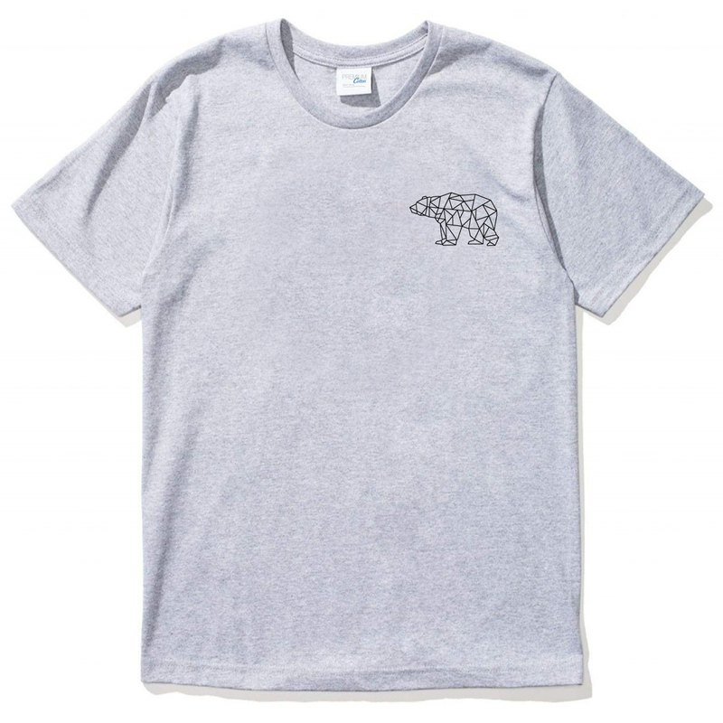 Pocket Bear Geometric gray t shirt