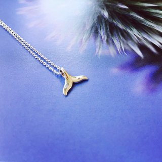 925 sterling silver [big whale tail necklace]