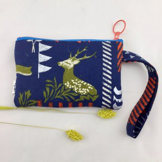 Forest Nocturne Deer Style - Hand Coin Purse/Cosmetic Bag/Disposable Bag - Lightweight and Practical