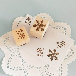 Snow Crystal Pigeon Set (Christmas Card · New Year's Card)