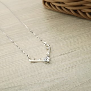 Antlers Necklace 925 Sterling Silver