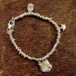 emmaAparty sterling silver bracelet '' grandson fighting