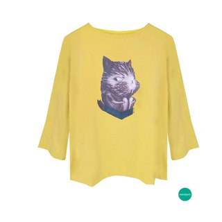 emmaAparty illustrator T: security cat (winter short version limited edition two colors)