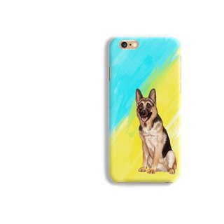 German Shepherd Pattern Matt hard Phone Case iPhone X 8+ 7 plus Samsung S8 S7 LG