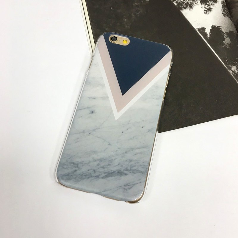 Blue Pink Chevron, Gery Marble pattern phone case For iPhone and Samsung