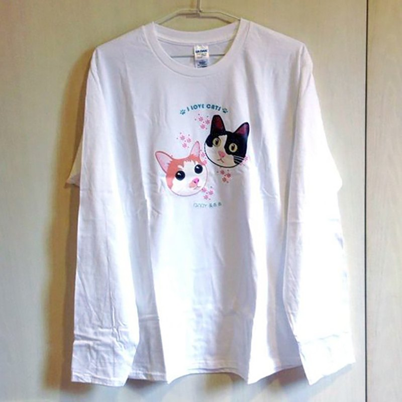 Customized long-sleeved cotton T-shirt