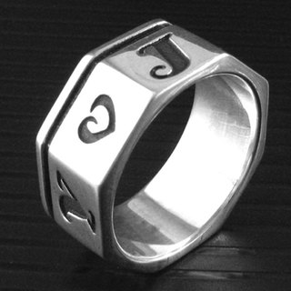 Customized .925 sterling silver jewelry RP00013- polygonal ring (octagonal ring)