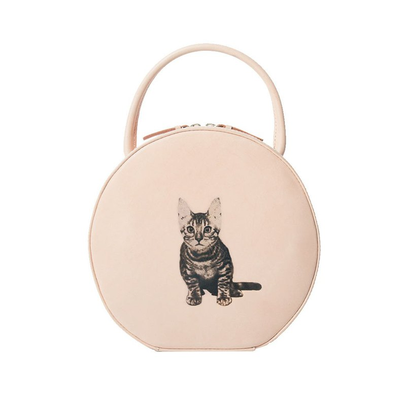 Personalised Round Leather Handbag