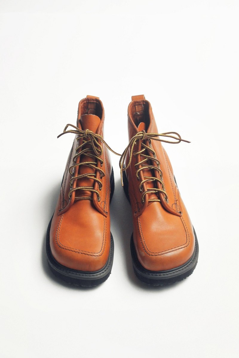 70s 美製焦糖笨踝靴|Knapp 6-eye Work Boots US 8D EUR 40 -Deadstock