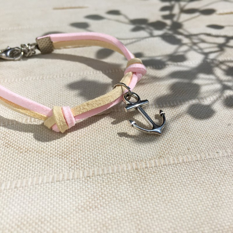 Handmade Simple Stylish Anchor Bracelets –light pink limited
